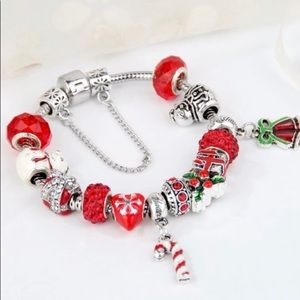 Beautiful Christmas European charms bracelet